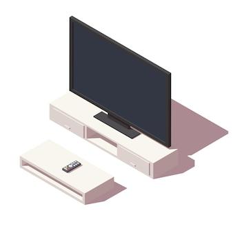 Icono de tv led isométrica