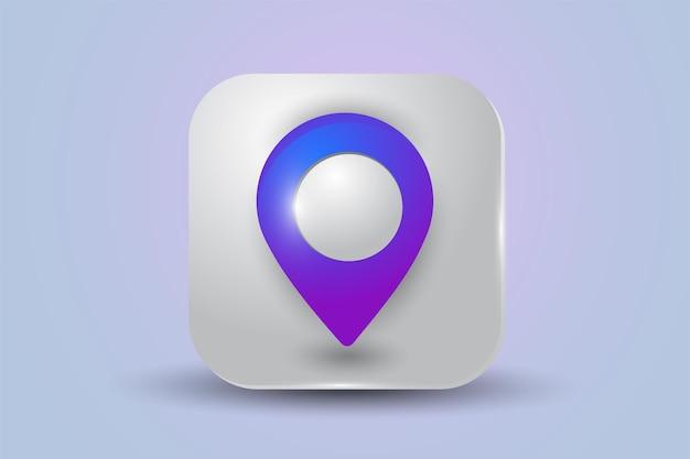 Icono de ubicación aislado