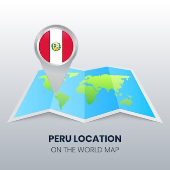 Ícono de ubicación de perú en el mapa mundial