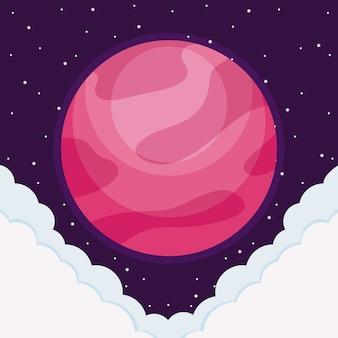 Icono del universo del espacio planetario