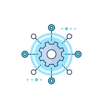 Icono de vector de automatización de pruebas de software