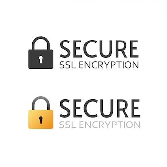 Icono de vector de certificado ssl seguro signo blanco y negro o símbolo de pago cifrado seguro