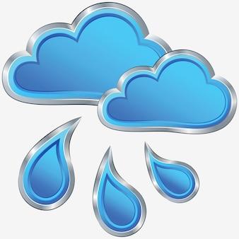 Icono de vector de clima lluvioso