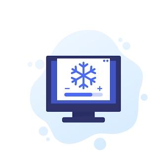Icono de vector de control de refrigeración para web