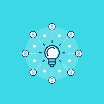 Icono de vector de crowdfunding