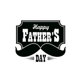 Icono de vector de día del padre con bigotes negros