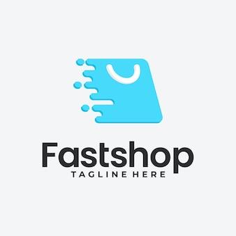 Icono de vector de diseño de logotipo de tienda online. diseño de logotipo de compras