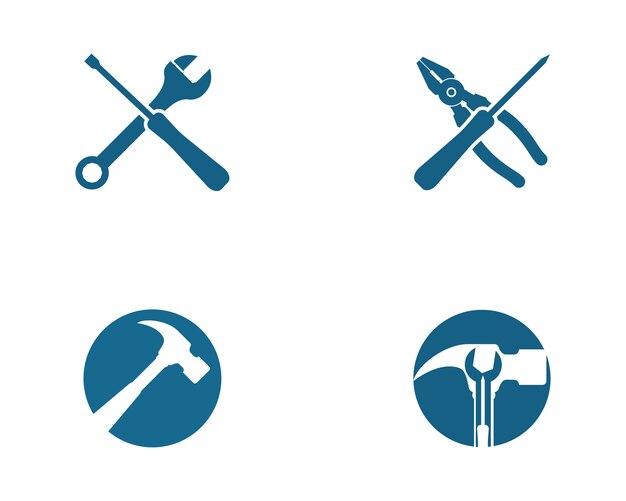 Ubicación Posición Icono Gráficos Vectoriales Gratis: Llave Inglesa Y Destornillador En Posición Entrecruzada