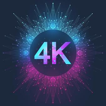 Icono de vector de insignia 4k ultra hd