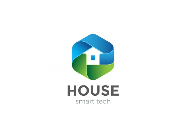Icono de vector de logotipo de casa ecológica