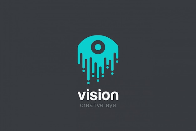 Icono de vector de logotipo de gota de ojo