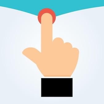 Icono de vector de mano icono táctil