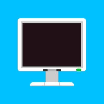 Icono de vector de monitor pantalla computadora