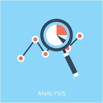 Icono de vector plano de análisis