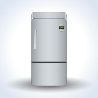 Icono de vector realista de refrigerador de casa