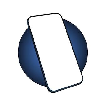Icono de vector de smartphone aislado en blanco