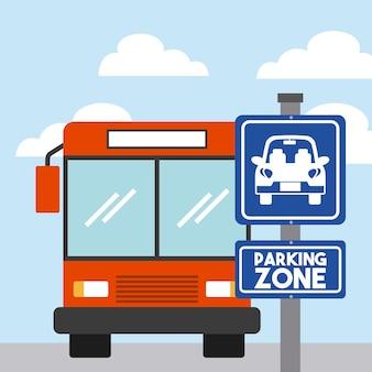 Icono de vehículo de autobús