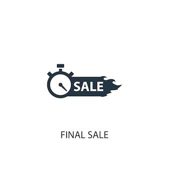 Icono de venta final. ilustración de elemento simple. diseño de símbolo de concepto de venta final. se puede utilizar para web y móvil.