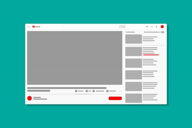 Icono de ventana de medios de video del navegador