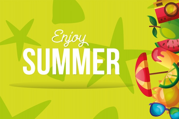 Icono de verano en diseño de vector del lado derecho