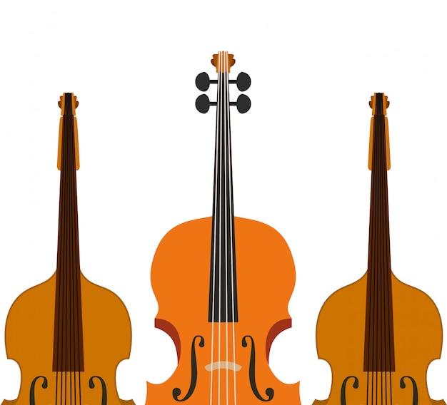 Icono de violín de instrumento musical