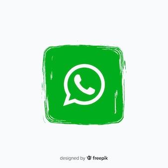Icono de whatsapp en estilo de pintura