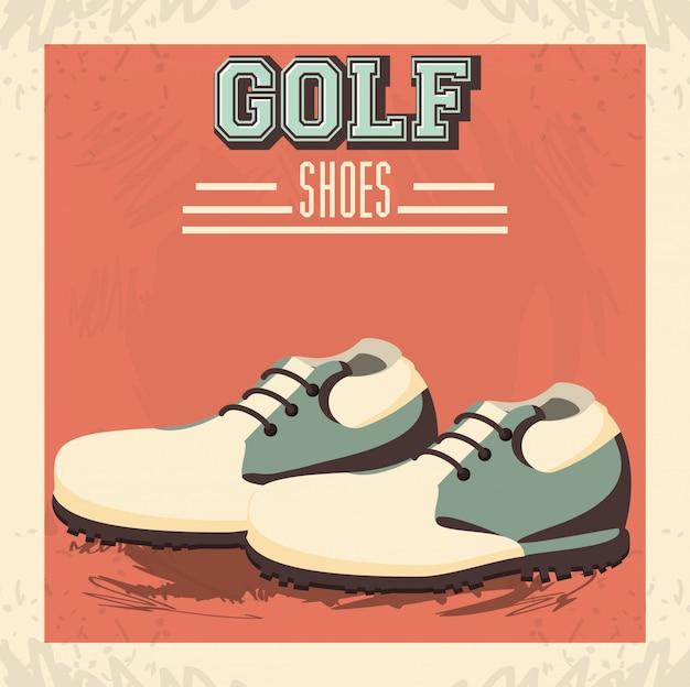 Icono de zapatos de uniforme de golf