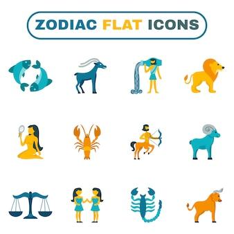 Icono del zodiaco plano
