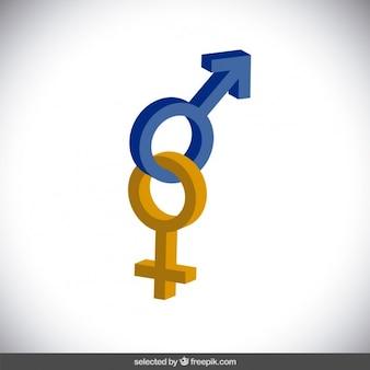Iconos 3d de género