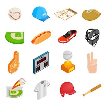Iconos 3d isométricos del fútbol americano