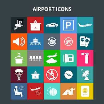 Iconos del aeropuerto