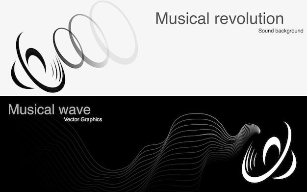 Iconos de altavoces y ondas sonoras.