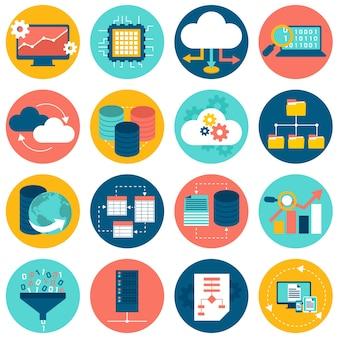 Iconos de análisis de datos
