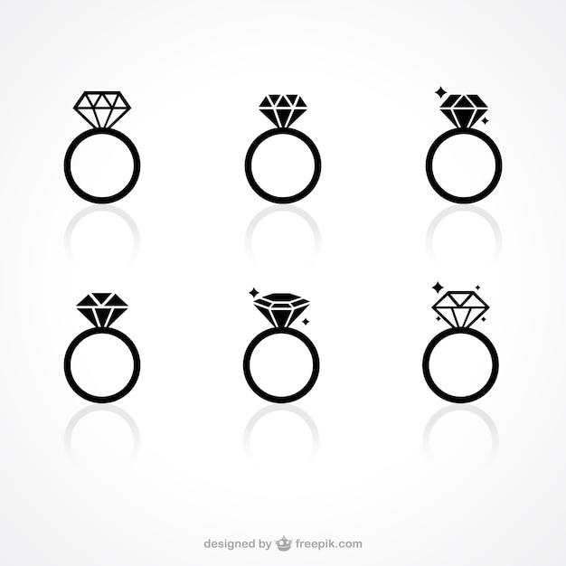 Anillo De Compromiso Dibujo Png Anillo Diamante