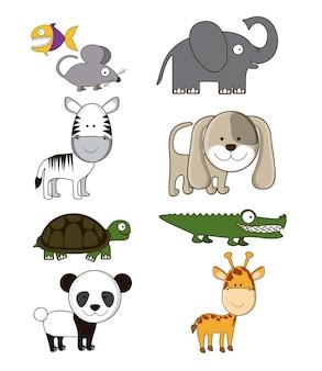 Iconos de animales de granja y vida silvestre