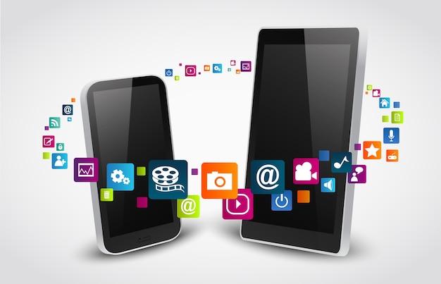 Iconos de aplicaciones coloridas