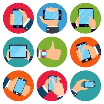 Iconos de aplicaciones móviles