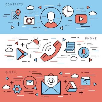 Iconos de aplicaciones de telefonía móvil