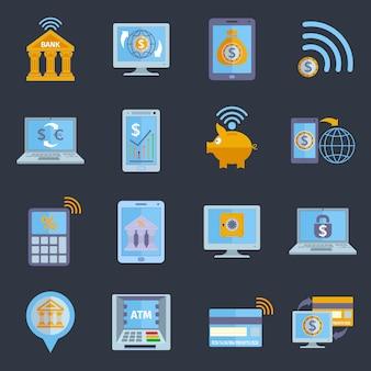 Iconos de banca móvil