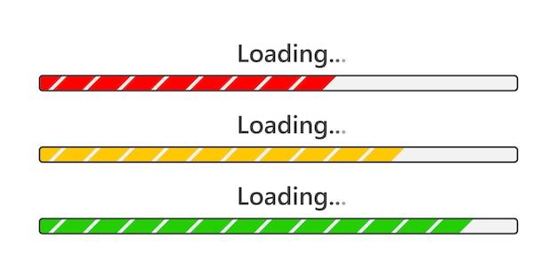 Iconos de la barra de carga. ilustración