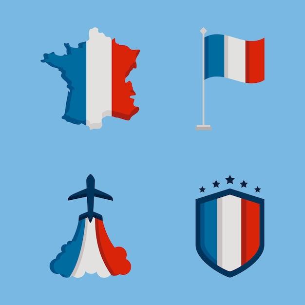 Iconos de la bastilla de francia