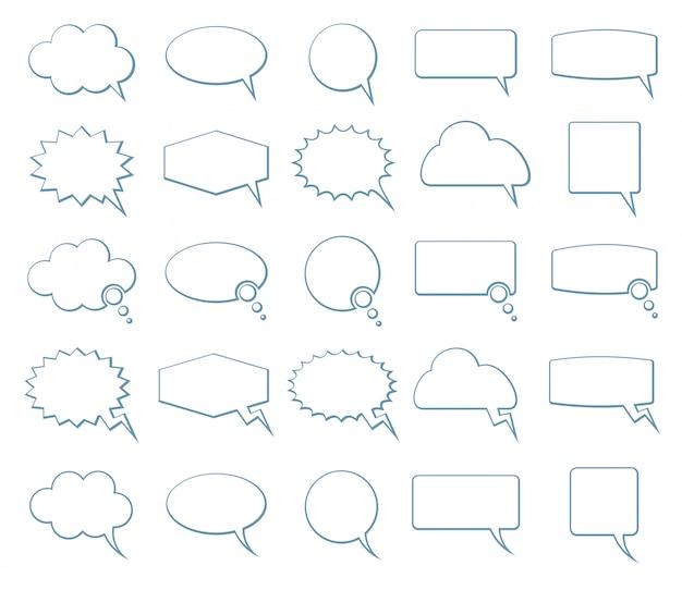 Iconos de burbujas de discurso vacío