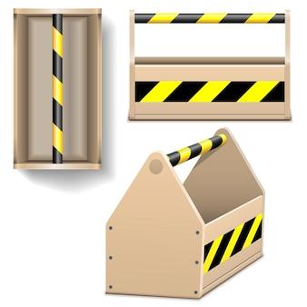 Iconos de caja de herramientas aislados en blanco