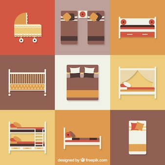 Iconos de cama