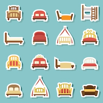 Iconos de la cama