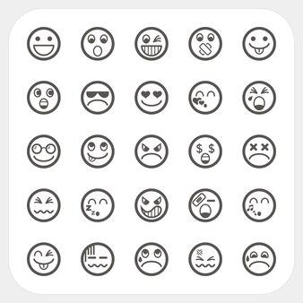 Iconos de cara de emoción