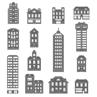 Iconos de la casa negro