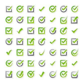 Iconos de casillas de verificación