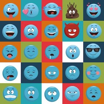 Iconos de chat emojis