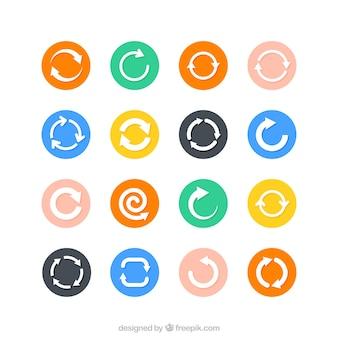 Iconos ciclo flecha